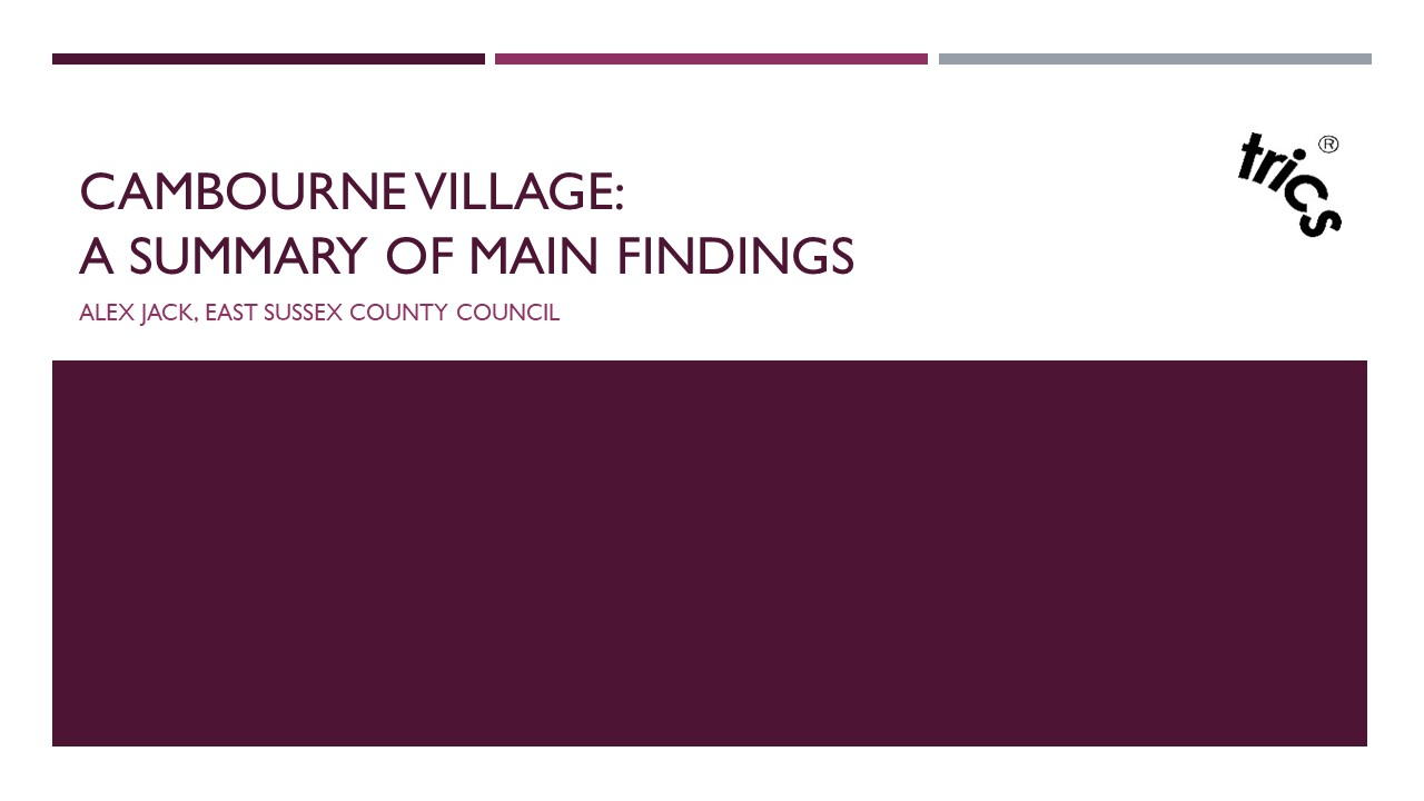 Cambourne Village A Summary of Main Findings